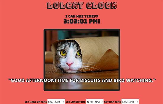 lolcat-clock Project